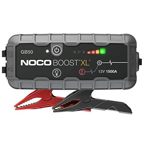 NOCO Boost XL GB50, Arrancador de Batería UltraSafe 1500A 12V, Cargador de Booster Profesional y...