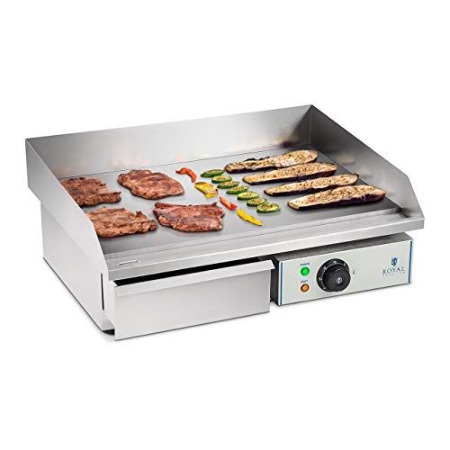 Royal Catering Plancha Grill Electrica Fry Top Parrilla Electrica Industrial RCEG-55 (3.000 W, Largo...