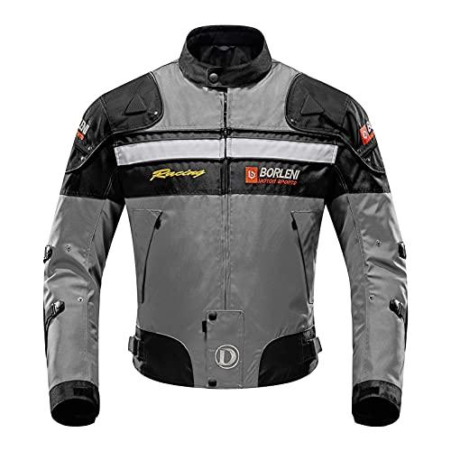 BORLENI Chaqueta de Moto Impermeable 5 Equipo de Protección de Cuerpo Completo para Motocicleta...