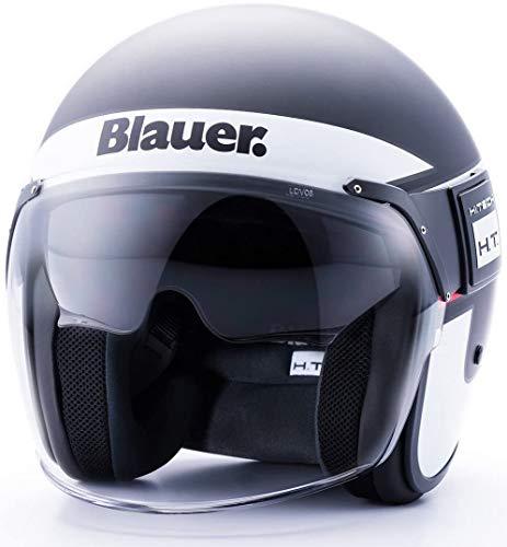Blauer HT Blauer-Casco POD Stripes Negro, Blanco y Rojo Mate XL, Adultos Unisex, Black-White-Red...