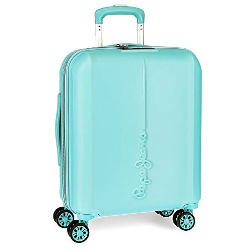 Pepe Jeans Glasgow Maleta de Cabina Azul 40x55x20 cms Rígida ABS Cierre TSA 37L 3,2Kgs 4 Ruedas...