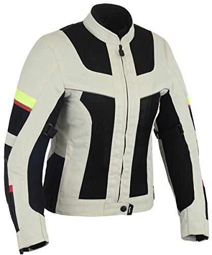Chaqueta tricapa perforada de verano para moto (Mujer) (XS)