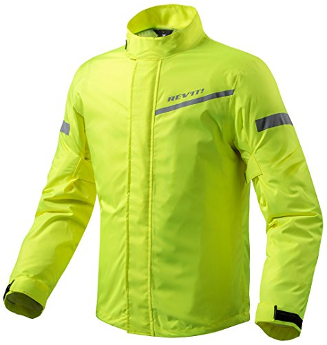 FRC010 - 0410-S - Rev It Cyclone 2 H2O Rainwear - Chaqueta para moto (talla S), color amarillo neón