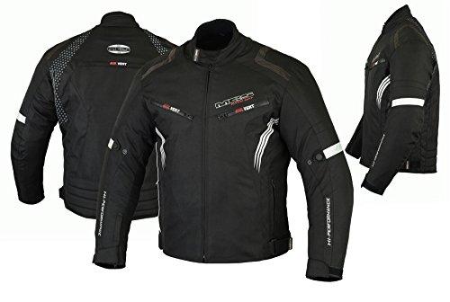 MBSmoto MJ22 Max Motorcycle Motorbike Short Textile Chaqueta de turismo (Negro, 2XL)
