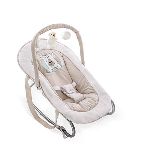 Hauck Bungee Deluxe hamacas bebes, mecedora con movimiento, respaldo ajustable, sistema de arnes,...