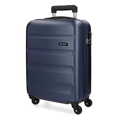 Roll Road Flex Maleta de cabina Azul 38x54x20 cms Rígida ABS Cierre combinación 35L 2,5Kgs 4...