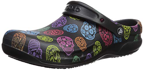 Crocs Bistro Graphic Clog, Zuecos Unisex Adulto, Multi/Black 988, 43/44 EU