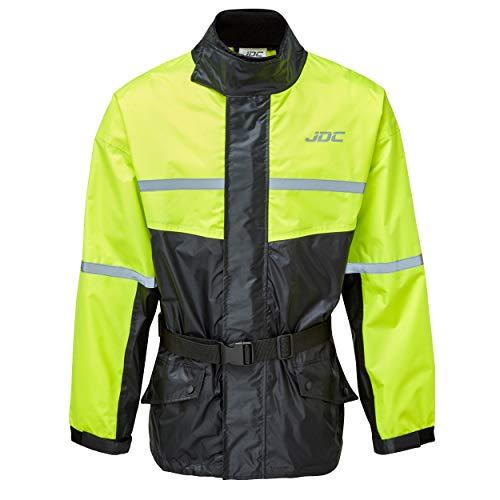 JDC Chaqueta De Lluvia Para Moto Impermeable De Alta Visibilidad - SHIELD - Amarillo/Negro - XL