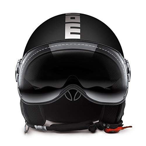 MOMO - Casco de moto negro Negro mate Talla:58-59 cm