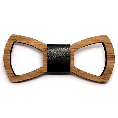 Pajarita de madera de contorno