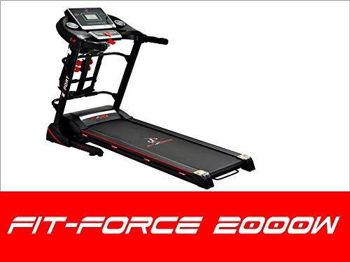 FIT-FORCE Cinta de Correr Plegable 2000W con masajeador,USB,Altavoces, Auto inclinación