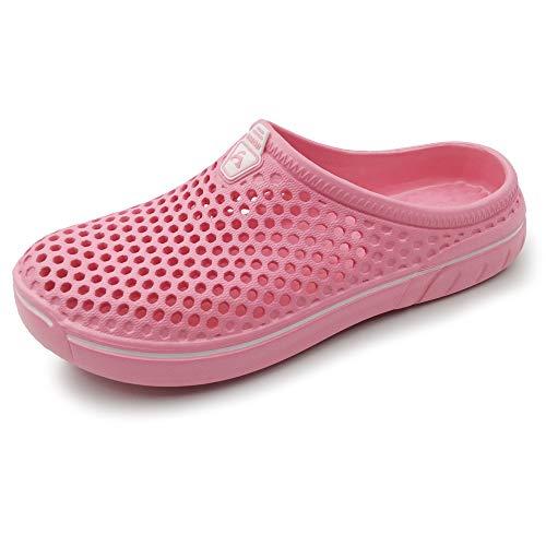 AMOJI Unisex Zuecos Zapatos de jardín Zapatillas de Hombre Zapatos de Goma de plástico Mujeres...