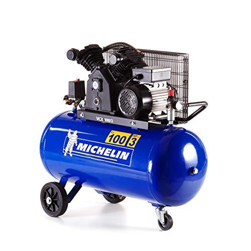 MICHELIN - Compresor de aire VCX100/3 - Tanque de 100 litros - Motor de 3 CV - Presión máxima 10...