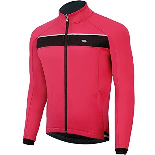 Souke Sports - Chaqueta de Ciclismo Hombre Chaqueta Ligera de Invierno MTB Reflectante...