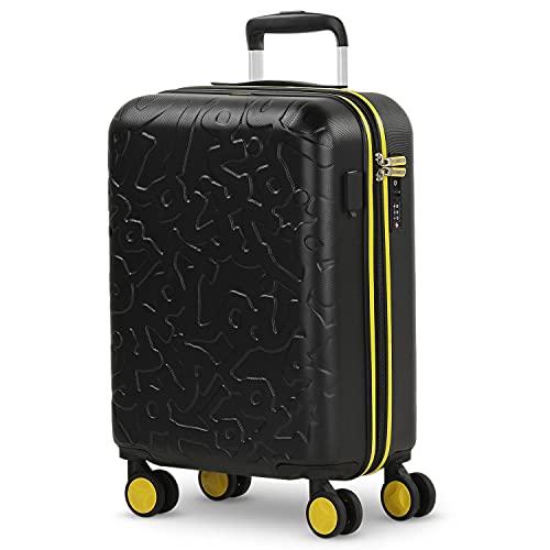 Lois - Maleta Pequeña de Cabina para Viaje. Puerto USB Doble. 4 Ruedas Dobles Trolley 55 cm. ABS....