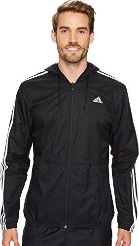 adidas Men's Essentials Wind Jacket, Black/Black/White, Medium