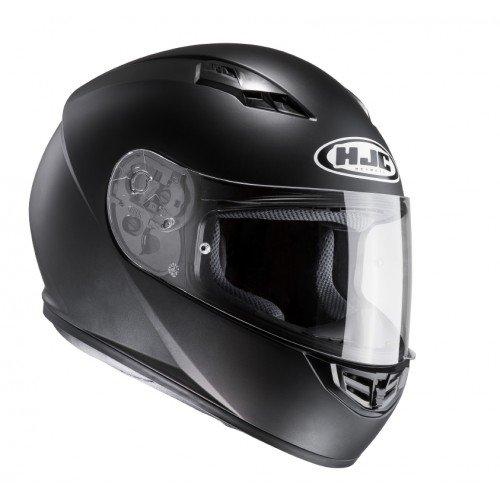 HJC 10107010 Casco de Moto, Semi Flat Negro, Talla XL