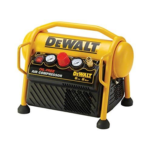 Dewalt DPC6MRC-QS Compresor de 6L sin aceite y portátil de 1.100W con presión de 8Bar, 1.100 W