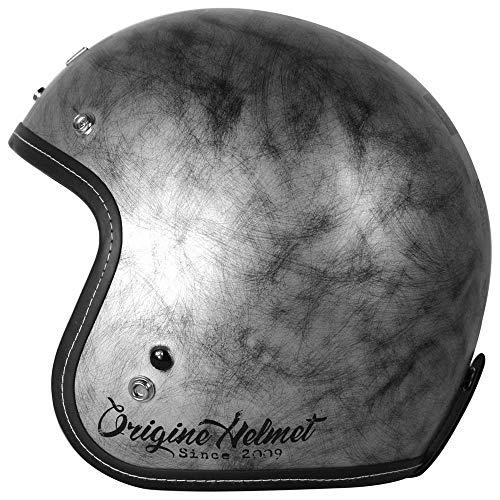 Origine Helmets - Casco para moto, modelo Primo L plateado