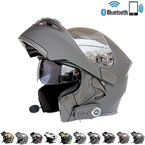 C-TK Bluetooth Integrado Modular Casco de la Motocicleta ECE 22.05 certificación Dot Seguridad...