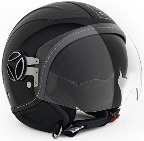 Casco Jet Momodesign AVIO negro brillante carbono talla ml
