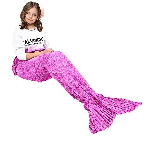 Manta de sirena para niña de 140x70cm