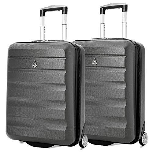 Aerolite 55x40x20 Tamaño Máximo de Ryanair y Vueling ABS Trolley Maleta Equipaje de Mano Cabina...
