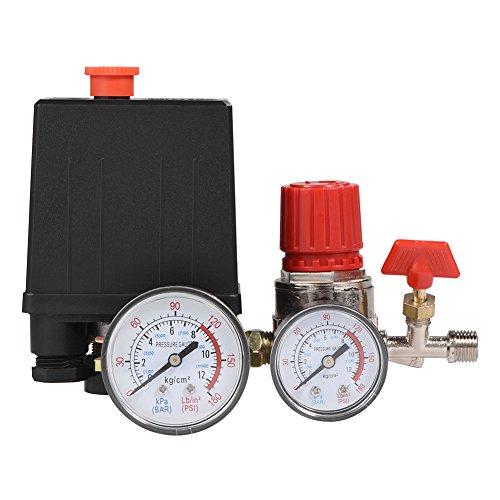 Regulador de válvula de control de interruptor de presión de compresor de aire pequeño con...