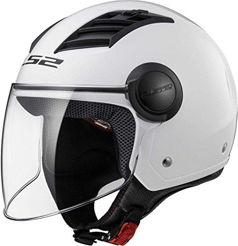 LS2 Airflow Casco de Moto, Unisex-Adult, Blanco, M