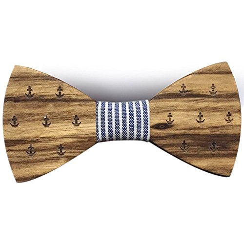 Pajarita de madera Estampada