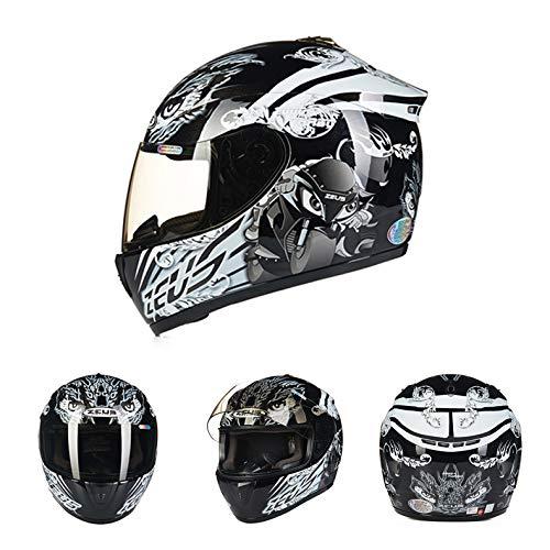 Goolife Moto Crash Casco Modular De Alta Seguridad-Zeus Full Face Racing Casco De Moto para Adultos...