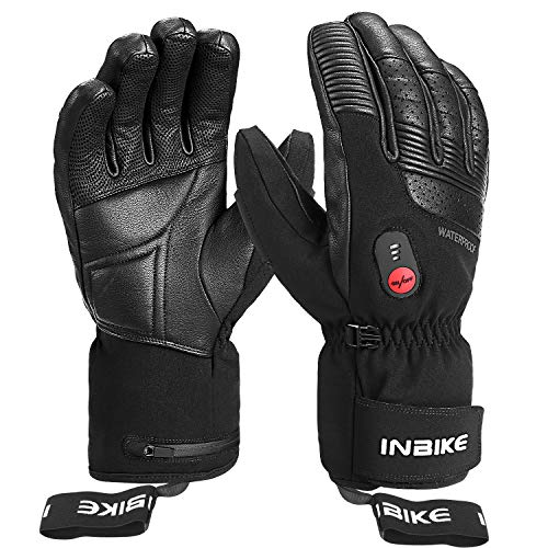 INBIKE Guantes Calefactables Moto Invierno con 3M Thinsulate Membrana TPU Impermeable, Guantes...