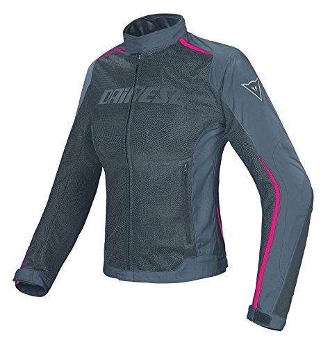 Dainese 2654575_U83 Hydra Flux Lady D-Dry Jacket Chaqueta Moto para Mujer, Multicolor(Gris/Rosa), 48...