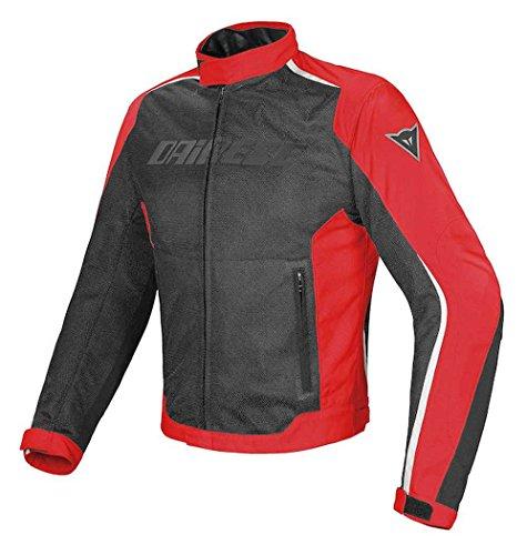 Dainese - Chaqueta Hydra Flux D-Dry para hombre. Color negro y rojo, talla 56 EU