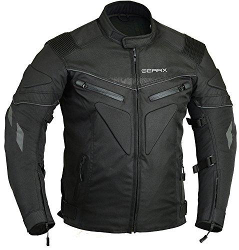 Chaqueta de moto acolchada e impermeable transpirable blindada. negro negro medium