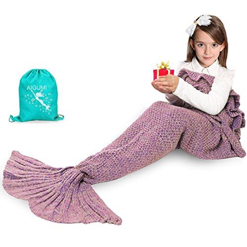 Manta de sirena para niños de 135x65cm