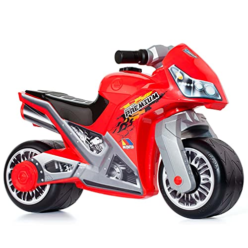 MOLTO | Moto Correpasillos Cross Premium Roja | Moto Corre Pasillos para Todo Tipo de Terrenos |...