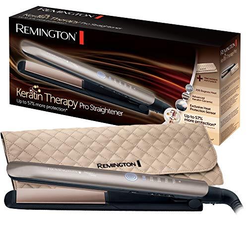 Remington Keratin Therapy Pro Plancha de Pelo Profesional - Cerámica, Queratina, Aceite Almendras,...