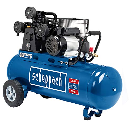 Scheppach HC550TC - Compresor de aire comprimido (10 bar, 100 l, 2200 W)