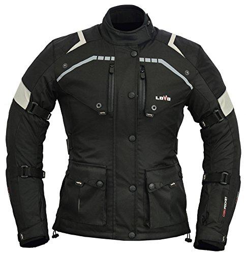 LOVO Chaqueta 3/4 para moto (Mujer) (5XL)
