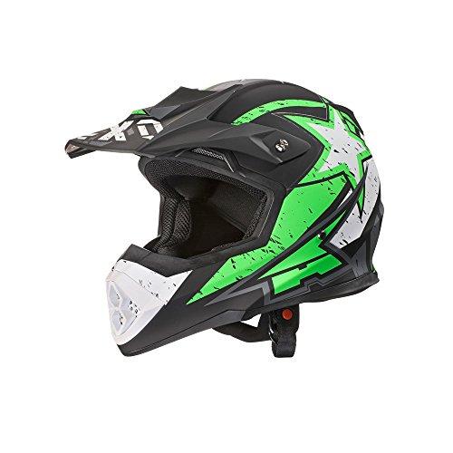 AXOCasco de Motocross Tribe, color Verde/Negro/Blanco, talla L