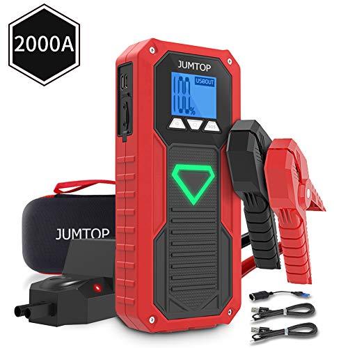 JUMTOP arrancador batería Coche 20800mAh 2500A