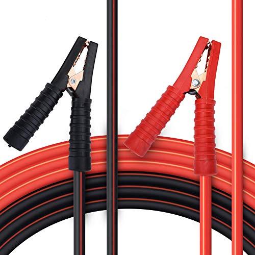 Goture Cables de arranque para motores de gasolina y diésel, 6/12/24 V, cable puente de cobre, 2 x...