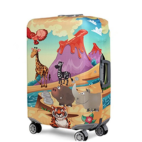 YianBestja Elástico Funda Protectora de Maleta Luggage Protective Cover (Animal World, XL (Equipaje...
