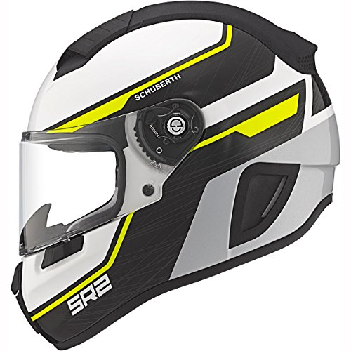 Schuberth SR2 Sports/Race Casco de motocicleta de cara completa, color amarillo