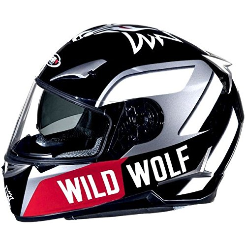 SHIRO SH-715 WILD WOLF-Casco para moto doble pantalla, color negro y Gris negro y gris Talla:XXL