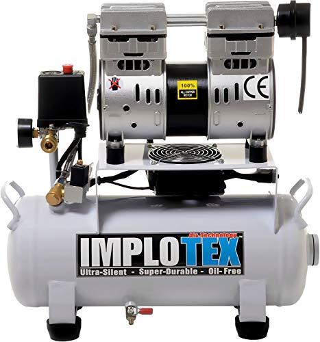 Compresor silencioso de aire comprimido de 850 W, 14 L, silencioso, solo 55 dB, silencioso, sin...