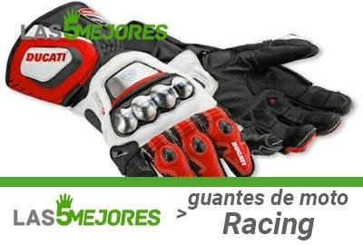 Guantes racing para moto