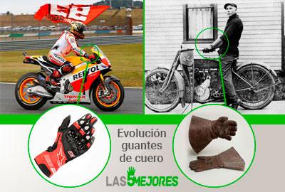 Historia guantes de moto de cuero