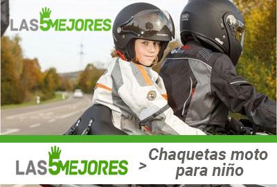Mejores chaquetas de moto de niño